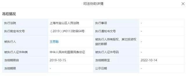 普思资本被冻结!王思聪5亿零花钱去哪了?